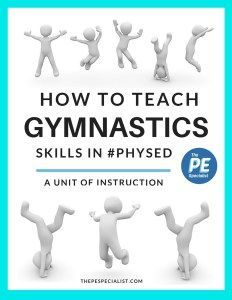 Great post on ideas and resources to use when teaching gymnastics in Elementary Physical Education