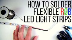 This video will demonstrate how to properly cut and solder the LED Strip for use in your custom application. D Lighting, Garage Lighting, Strip Lighting, Diy Electronics, Electronics Projects, Led Light Strips, Led Strip, Led Tape, How To Make Light
