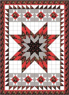 A Lone Star quilt with half square triangles is a much less daunting proposition than a Lone Star quilt with diamonds, bias edges and inset...