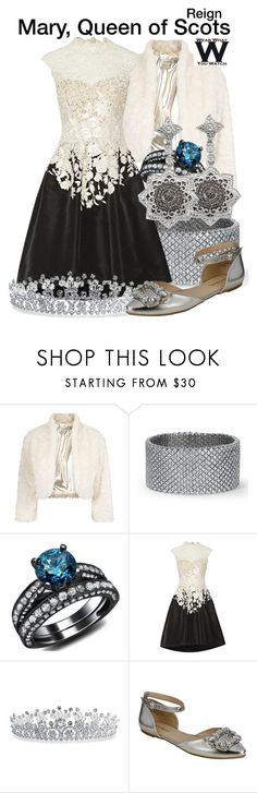 Reign by wearwhatyouwatch on Polyvore featuring Oscar de la Renta, Monsoon, Bamboo, Bling Jewelry, Blue Nile, television and wearwhatyouwatch