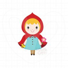 Miss Little Red Riding Hood ClipArt Single Set SKU: von LovinkDay