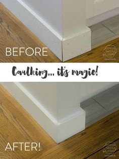 Caulking... it's magic! Tips and Tricks for Caulking for a Finished Look. Remodelaholic.com