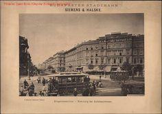 Villamos az Oktogonon, 1900 körül Fotó: Klösz György