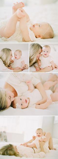 Beautiful, light-filled family session. LOVE this session! Esp the pic of mom kissing the baby's toes.
