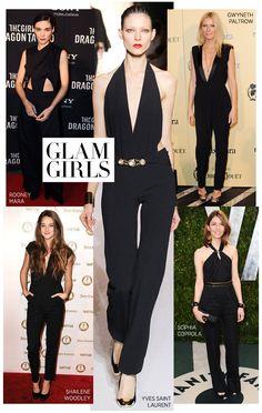 Black jumpsuits #harpersbazaar #fashion #trend #glam #jumpsuit