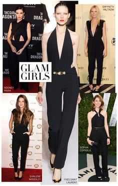Black jumpsuit...my mission is to find one!!