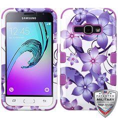 MYBAT TUFF Graphics Galaxy J1 Luna / Amp 2 Case - Hibiscus Flower