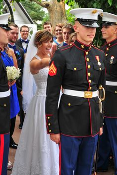 Marine Corps Wedding, First Look