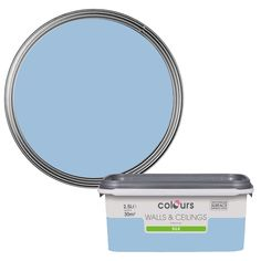 Colours China Blue Silk Emulsion Paint 2.5L | Departments | DIY at B&Q