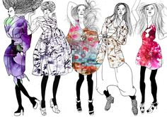 textile illustrators | Fashion Illustration on Behance