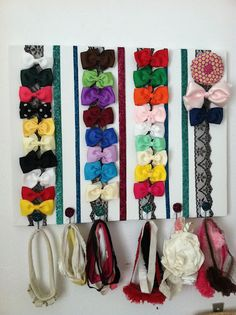 A great way to keep headbands and bows organized for the girlie