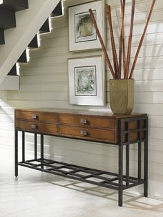 Island Fusion Saipan Asian-Inspired Sideboard with Silverware Trays and Decorative Metal Stretcher by Tommy Bahama Home at Baer's Furniture Home Living Room, Living Spaces, British Colonial Decor, Wood Buffet, Lexington Home, Asian Design, Selling Furniture, Contemporary Decor, Home Accents