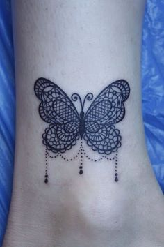 Borboleta com Suspensão Gemas Tatuagem