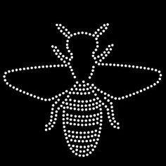 Bee rhinestone template, svg, eps, studio3, png, dxf