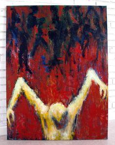 Forbigået, 2009. 90x120 cm, akryl på læred. Indrammet maleri af Rune Frederiksen, bud starter ved kr.: 1500,- sælges på auktion gennem Lauritz.com –