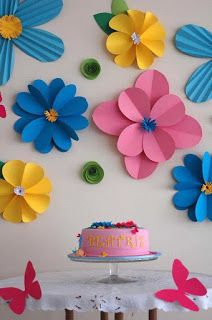 18 Ideas fáciles y hermosas para decorar con flores de papel ~ cositasconmesh