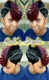 – Hair is art Debs Hairstyles, 27 Piece Hairstyles, Short Weave Hairstyles, Short Haircut Styles, Black Girls Hairstyles, Short Styles, Pixie Styles, Short Hairstyle, Hairstyle Ideas