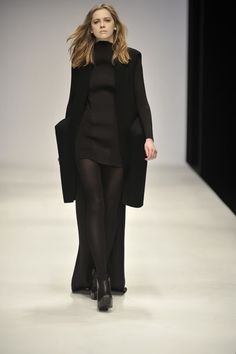 In love with this floor length black coat