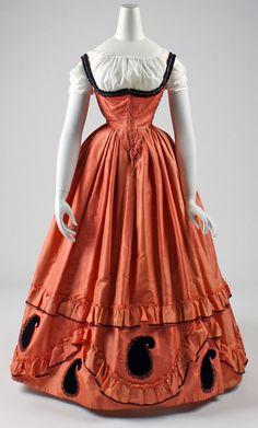 Paisley Swiss Waist Dress, ca. 1860-63