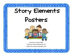 This file includes 11 story elements posters.  1. Who 2. What 3. Where 4. When 5. Why 6. How 7. Characters 8. Setting 9. Plot 10. Problem 11. Solution  These posters can be laminated and used when teaching story elements.  You can use these posters to help students answer questions when reading stories.