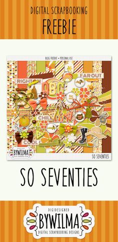This freebie is not for the faint of heart with its green, orange and brown colors .... a nod and a wink to the Seventies. Download links are up until 20 June 2016.
