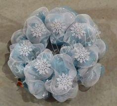Snowflake wreath $25. Shipping available  www.facebook.com/SadieSunflowerCrafts