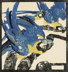 For me the big question about Jungnickel is this: how did he come to make a colour woodcut as original as his Tigerkopf by Untill. Art Courses, Ludwig, Illustrations, Bird Art, Diy Painting, Japanese Art, Printmaking, Moose Art, Drawings