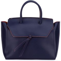 Alexandra de Curtis - Loren Tote Navy Blue (11 300 ZAR) ❤ liked on Polyvore featuring bags, handbags, tote bags, leather totes, leather pouch, leather zip pouch, laptop tote bag and leather laptop tote