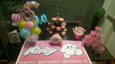 Kirby themed birthday Happy Birthday, Desserts, Happy Brithday, Tailgate Desserts, Deserts, Urari La Multi Ani, Happy Birthday Funny, Postres, Dessert