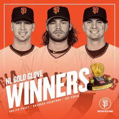 THREE Gold Gloves