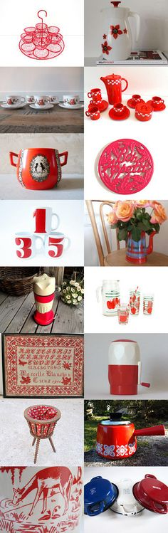 Vintage France, RED by Gaël B. on Etsy--Pinned with TreasuryPin.com#etsyfr #frenchvintage #french #vintage #vintagefinds #vintagefr #retro #frenchretro #colorful #etsyfinds #giftidea #giftideas #red