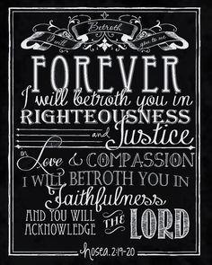 So thankful for God's faithful pursuit of His people!  Hosea 2:19-20  #faithfulgod #amazinglove