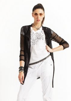 Jacket #easy-long-jacket #fun #mcplanet-fibi #mcplanet-paris #mesh #summer-16-go-by #summer-msut-have #zipper-detail