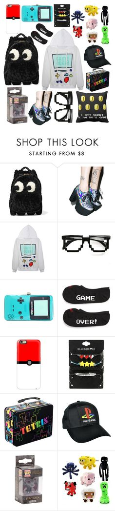 """""""Gamer Set- Wish List/Things to buy"""" by taylor-kennedy-i ❤ liked on Polyvore featuring Anya Hindmarch, Current Mood, ZeroUV, Nintendo, Vans and Casetify"""