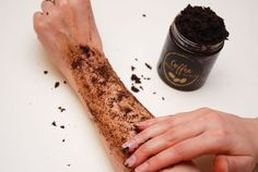 using coffee scrub
