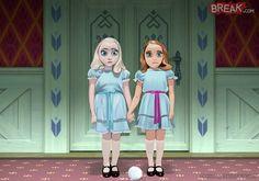 Elsa y Ana son las gemelas de 'El resplandor'