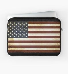 'US flag' Laptop Sleeve by