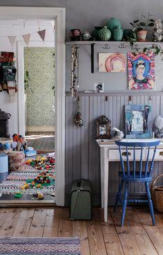 Nanna van Berlekom-hos Minna-2 Home Interior, Interior Design, Creative Kids Rooms, Little Girl Rooms, Baby Decor, Kids Bedroom, Room Inspiration, Home Office Design, Baby Room