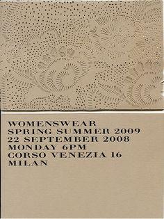burberry :: spring/summer 2009 runway show invitation