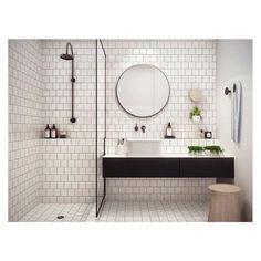 1000 images about id es d co salle de bains wc on for Miroir rond industriel