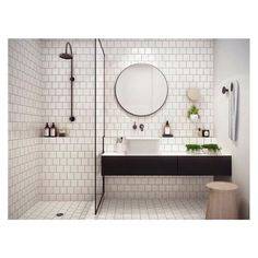 Decoration salle bains industriel miroir rond for Miroir xxl rond