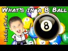 What's Inside an 8 Ball? Pool Table Surprise! Science Lab Toy Billiard F...