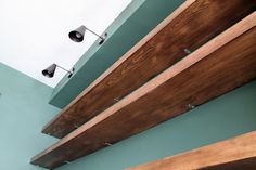 DIY Solid Wood Wall-to-Wall Shelves - Chris Loves Julia