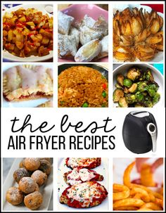 The hype is worth it! I'm LOVING my air fryer. There's a lot of air fryer recipes out there and I wanted to gather some of the best! Air Fryer Recipes Videos, Air Fryer Oven Recipes, Freezer Meals, Easy Meals, Pasta Recipes, Dinner Recipes, Meal Recipes, Best Air Fryers, Eggplant Recipes