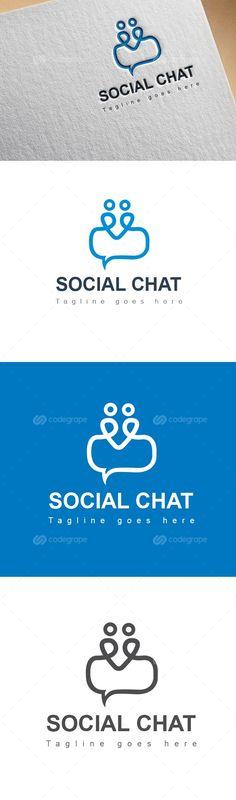Social Chat Logo - http://www.codegrape.com/item/social-chat-logo/6233