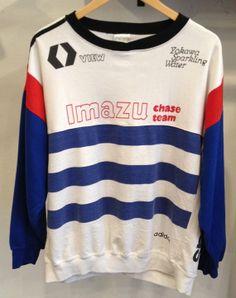 Vintage Adidas Trefoil 80's Imazu Chase Team Red/White/Blue Sweatshirt