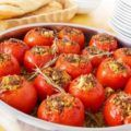 Baked tomatoes with meat