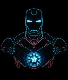 Would be awesome as a line work tattoo with UV ink arc reactor and eyes.