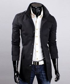 Elegant Turndown Collar Single Breasted Solid Color Long Sleeves Polyester Trench Coat