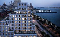 US$ 20 milhões / 470 m² = 70 Vestry,  Nova York, no bairro luxuoso de Tribeca = O prédio vai ter 14 andares e promete uma vista incrível de Manhattan e do Hudson River.